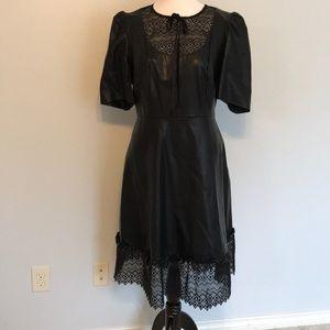 Faux leather midi dress Eloquii size 16!